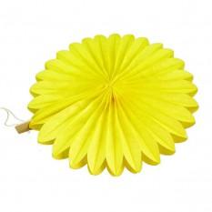Веерный круг (тишью) 20см (желтый 0019)