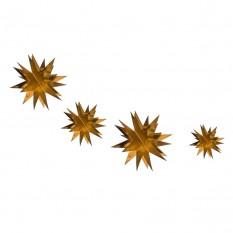 Гирлянда фольгированая 3D Звезда (золото)