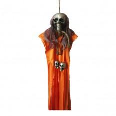 Декор для хэллоуина Висящая Смерть (80см) оранжевая