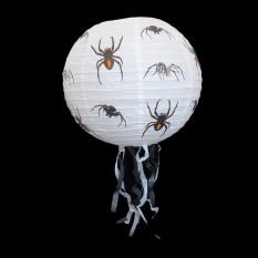 Декор подвесной (40см) белый с пауками