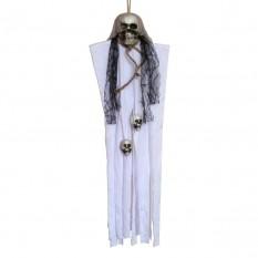 Декор для хэллоуина Висящая Смерть (80см) белая