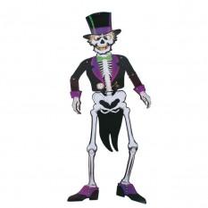 Декор настенный (85см) Скелет во фраке