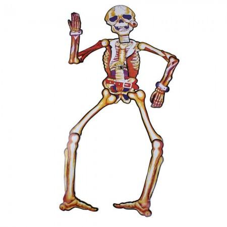 Декор настенный (150см) Скелет желтый