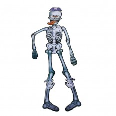 Декор настенный (85см) Скелет с языком