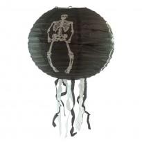 Декор подвесной (40см) черный со скелетом