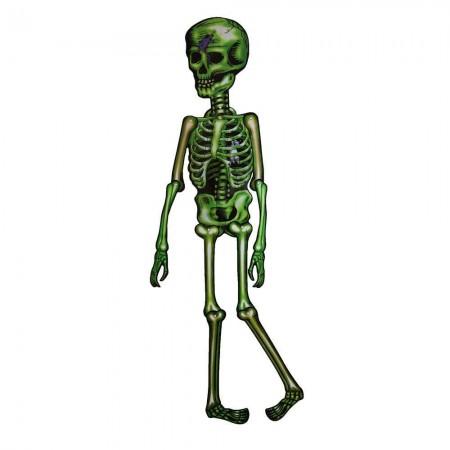 Декор настенный (150см) Скелет зеленый оптом