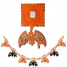 Гирлянда 3D Хэллоуин с подвеской Летучая мышь