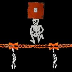 Гирлянда 3D Хэллоуин с подвеской Скелет