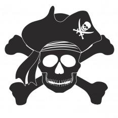 Интерьерная наклейка Череп Пирата