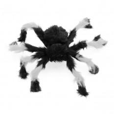 Паук из меха 50см (черный с белым)
