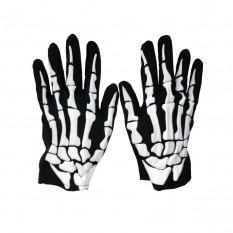 Перчатки Скелета короткие