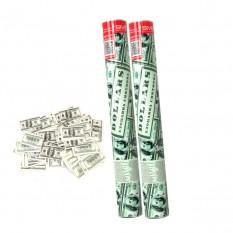 Хлопушка пневматическая 40см с Долларами