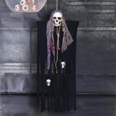 Декор для хэллоуина Призрачный Череп (125см) черный с серым 10094