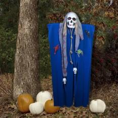 Декор для хэллоуина Призрачный Череп (125см) синий с серым 10085