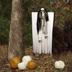 Декор для хэллоуина Призрачный Череп (95см) белый с черным 10097