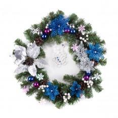 Рождественский венок СЕРЕБРЯНАЯ РОСКОШЬ  9236
