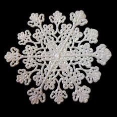 Украшение Сказочная Снежинка 20х20см