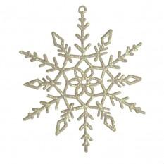 Украшение Снежинка Кружевная 13х13см 9306