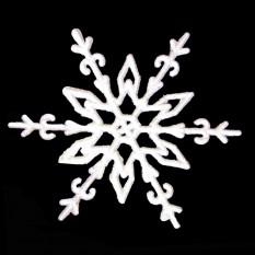Украшение Снежинка Морозный рисунок 10х10см (уп 10шт) 8156