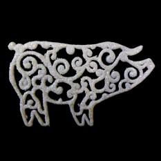 Украшение Свинка ажурная 10*7см (уп 10шт)