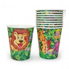 Бумажные стаканчики Джунгли (уп. 10шт)