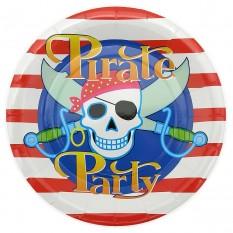 Бумажные тарелки диам.23см Пираты (уп. 10шт)