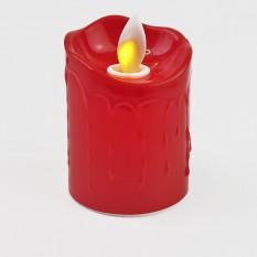 Свеча LED Живое пламя светящаяся 7х5см (красная)