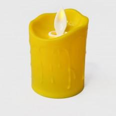 Свеча LED Живое пламя светящаяся 7х5см (желтая)