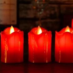 Свеча LED светящаяся 5,5х4см красная