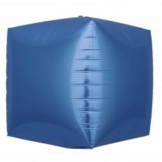 Шар фольгированный 4D куб синий
