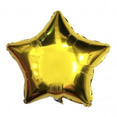 Шарик (45см) Звезда золото  в упаковке
