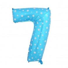 Шарик Цифра голубой (80см) 7