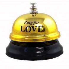 Звонок настольный LOVE (золото)