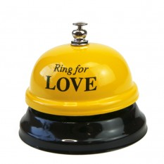 Звонок настольный LOVE (желтый)